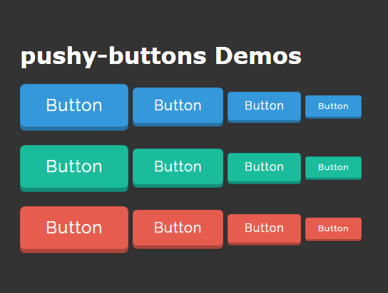 Animated 3D Buttons In Pure CSS - pushy-buttons | CSS Script