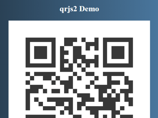 Customizable QR Code Generator In Vanilla JavaScript – qrjs2