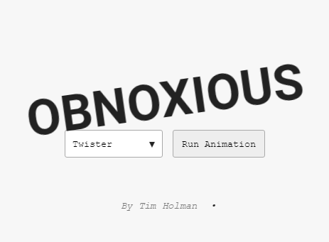 5 Amzing CSS Animations – Obnoxious.CSS