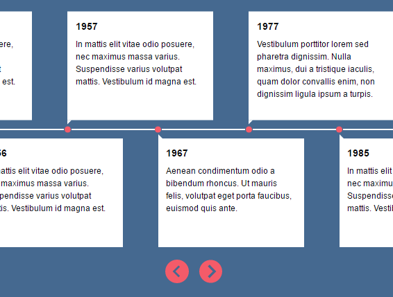 Responsive Timeline Slider With JavaScript And CSS   CSS Script