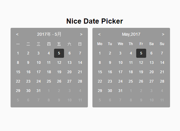 Minimal Calendar Date Picker With Pure JS – niceDatePicker