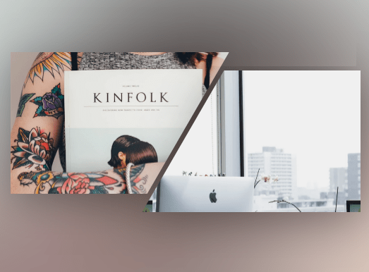 Split Image Slider With CSS3 And SVG | CSS Script