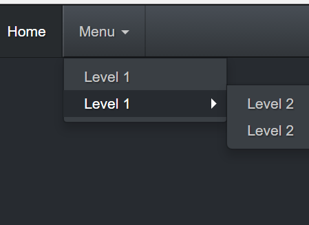 Multi-level Bootstrap Navbar In Pure CSS