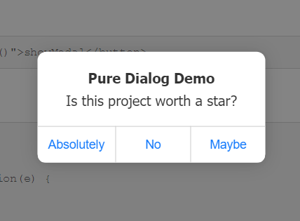 iOS Style Dialog Web Component – pure-dialog