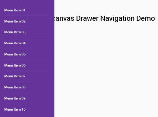 HTML And CSS Only Off-canvas Drawer Navigation