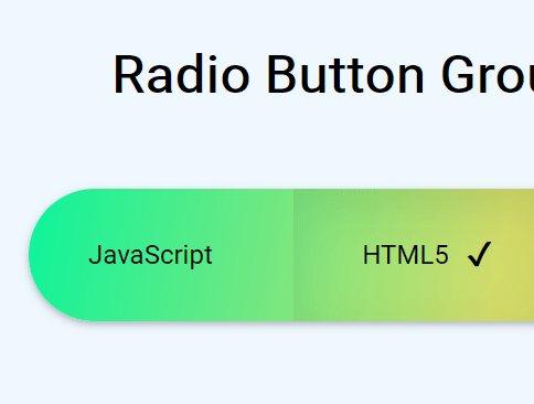 Radio Input Based Toggle Button Group With Pure CSS