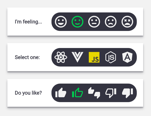 Radio And SVG Based Inline Selector With Pure CSS