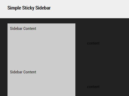 Create A Facebook Like Sticky Sidebar – simple-sticky-sidebar.js