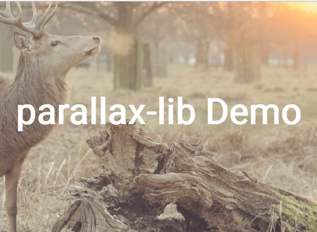 Simple Configurable Parallax Effect With Pure JavaScript – parallax-lib