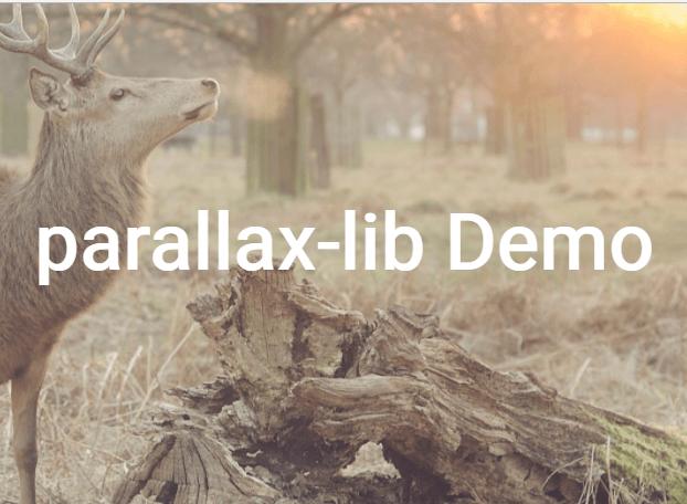 Simple Configurable Parallax Effect With Pure JavaScript – parallax-lib