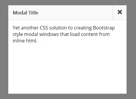 CSS Only Static Modal Window