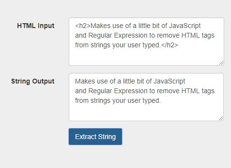 Remove HTML Tags From String To Prevent XSS Attacks