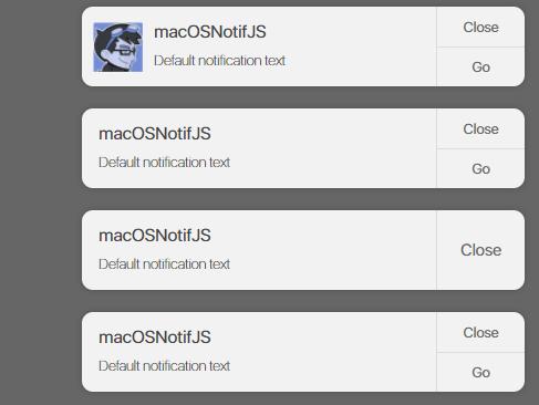 macOS Inspired Notification Plugin With Pure JavaScript – macOSNotifJS