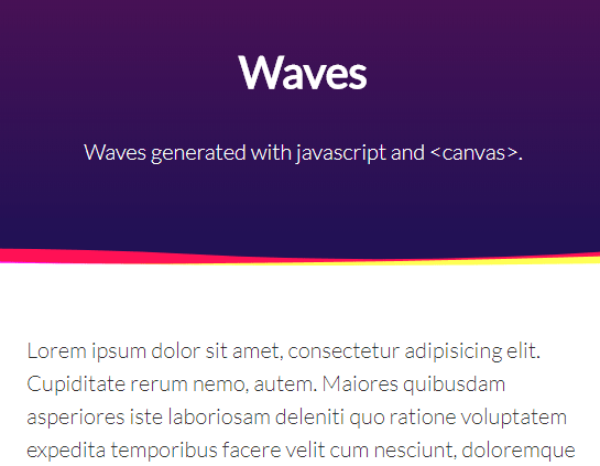 Generate Animated Waves Using JavaScript And Canvas   CSS Script