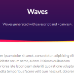 Generate Animated Waves Using JavaScript And Canvas