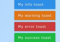 Sliding Toast Notification Plugin With Pure JS - Toasteo-min