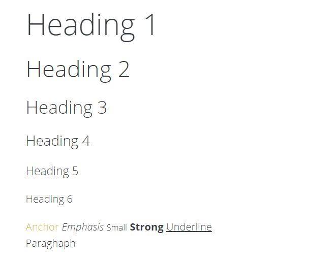 Sweet CSS Framework Typography-min