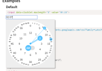 6+ Best Free Time Pickers In Pure JavaScript And CSS - CSS