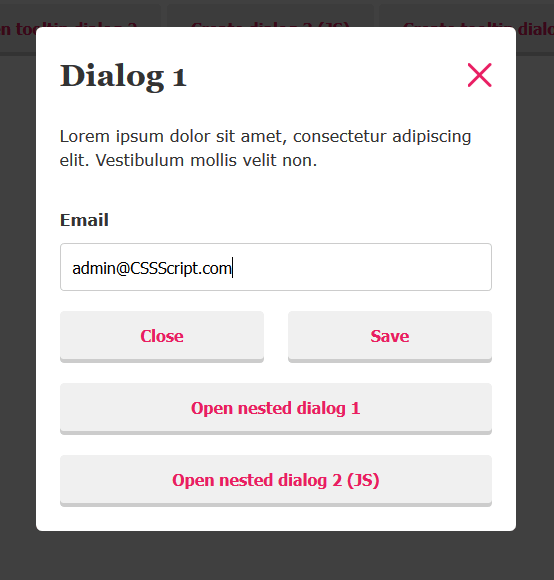 Accessible Modal Dialog Component In Vanilla JavaScript