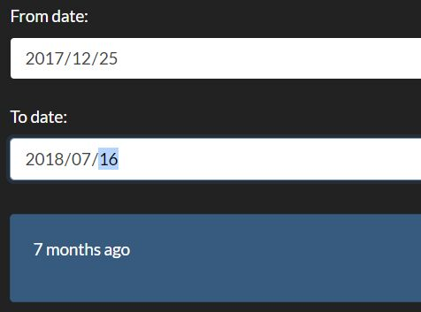 Compare The Data Difference Between Two Dates – js-time-diff
