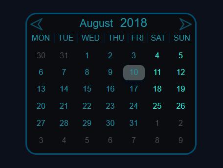 insert a basic calendar ui into your webpage calendar js css script
