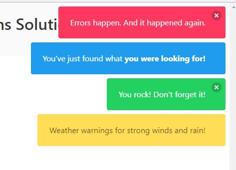 Simple Lightweight JavaScript Notifications Solution