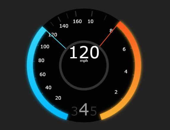 Tesla Style Speedometer In JavaScript - teslahud js | CSS Script