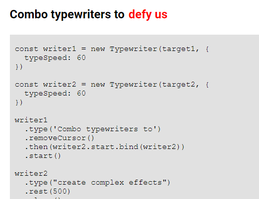 Custom Typewriter Effect In Nativie JavaScript – T-Writer.js