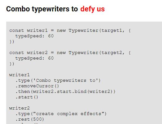 Custom Typewriter Effect In Nativie JavaScript – T-Writer.js