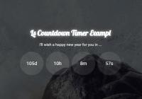 Modern Countdown Timer In Vanilla JavaScript - Ls Countdown