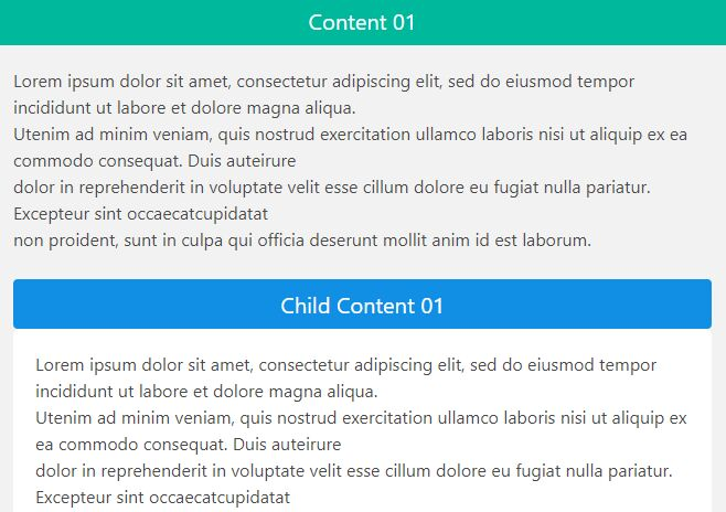 Create Nested Accordion & Content Toggle UI With JavaScript - handy
