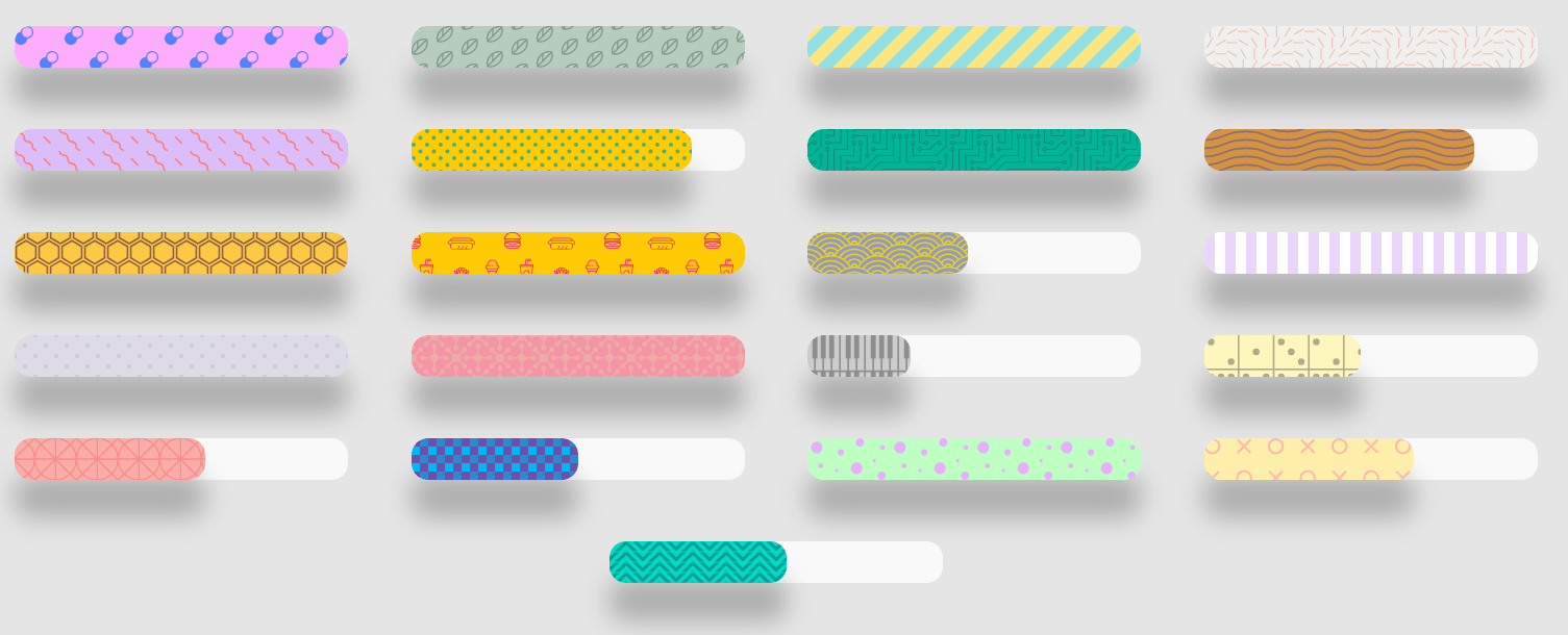 Fancy Progress Bars With SVG Patterns – Bars