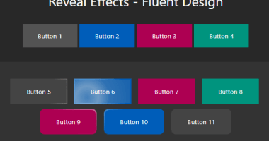 Fluent Design Button Hover & Click Effects - fluent-reveal-effect