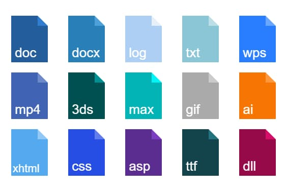 45 File Type/Extension Icons In Pure CSS - CSS file icons | CSS Script