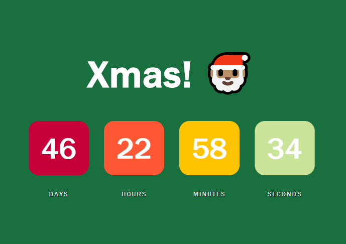 Flip Countdown Clock With JS And CSS3 – Countdown.js