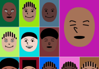 Generate Random Cartoon Avatars With JS And SVG - faces.js