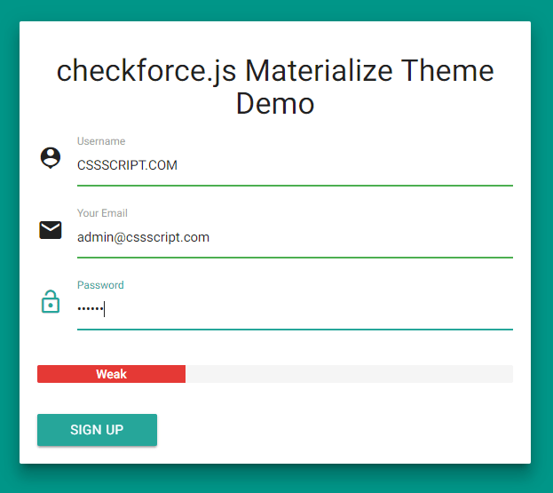 Test Password Strength While Typing – checkforce.js