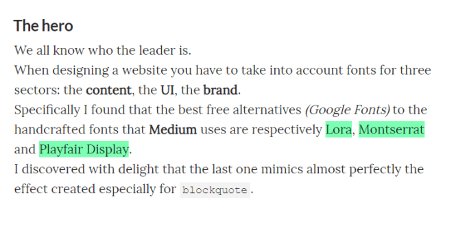 medium.css Text Highlight