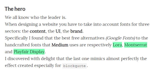 medium.css Text Highlight