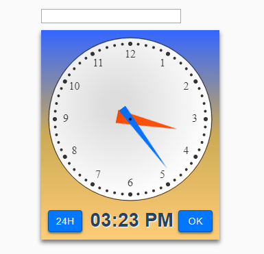 Analog Clock Time Picker Plugin In Vanilla JavaScript – Timepicker.js
