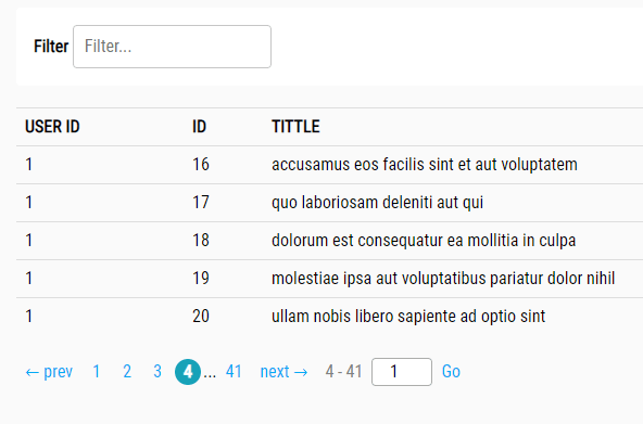 Create Pagination And Filter For HTML Table – Ligne PaginateJs