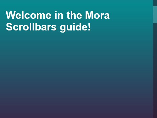 Customizable Touch-friendly Scroll Bar – Mora Scrollbars
