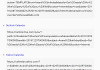 Generate Event Calendar Links For Google, Yahoo And Outlook - calendar-link