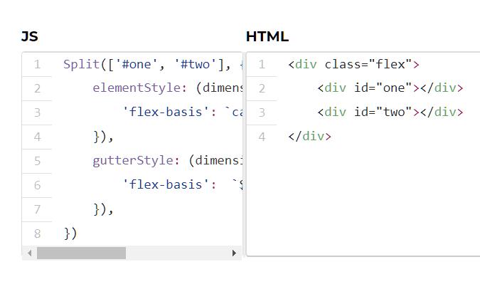 Modern Split View In JavaScript – Split.js
