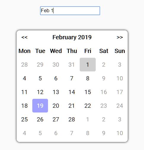 Simple Datepicker Calendar In Vanilla JavaScript – Datepicker.js