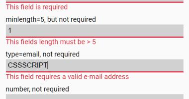 Minimal HTML5 Form Validator In Vanilla JavaScript - Pristine