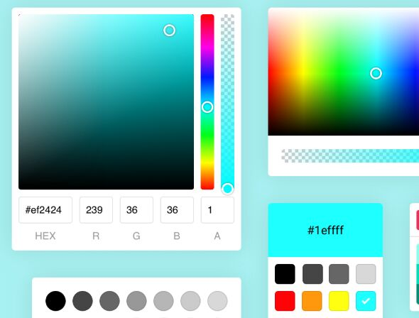 Powerful Color Picker Components In Pure JavaScript – Colorpicker.Pro