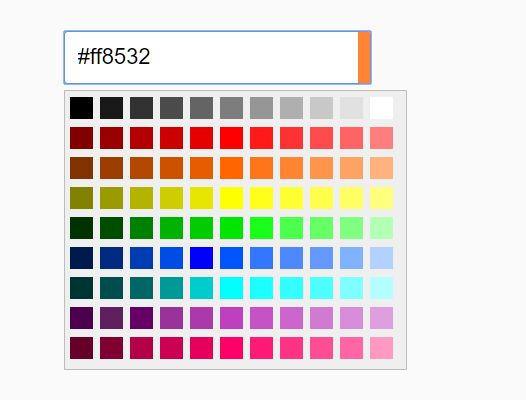 Select Color From A Preset Palette – LA Color Picker
