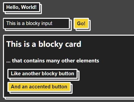 Add Depths & Shadows To Block Elements Using Only CSS – blocks.css