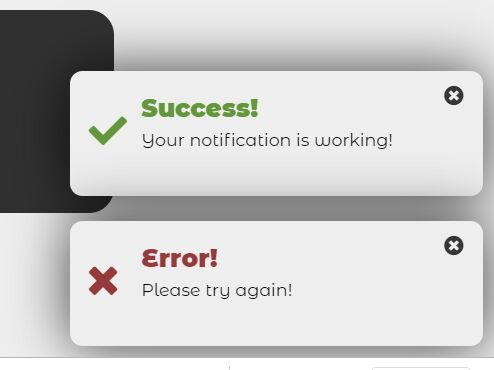 Minimalist Success/Error Notification In Vanilla JS – notify.js